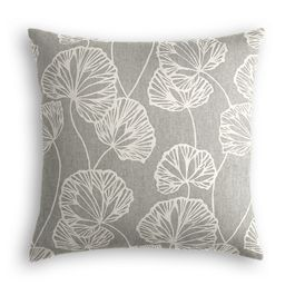 Gray Fan Leaf Pillow