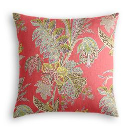 Intricate Pink Floral Pillow
