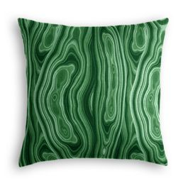 Marbled Green Malachite Pillow