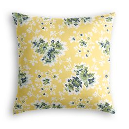 Yellow & Green Leaf Pillow