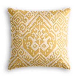 Woven Yellow Tribal Pillow