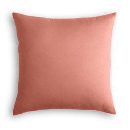 Coral Pink Velvet Pillow