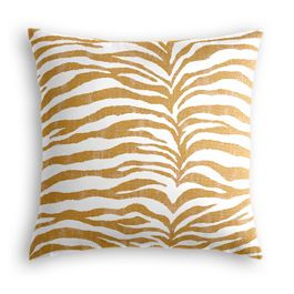 Gold Zebra Print Pillow