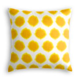 Bright Yellow Dot Pillow