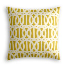 Bright Yellow Trellis Pillow