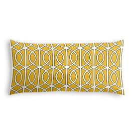 Modern Yellow Trellis Lumbar Pillow