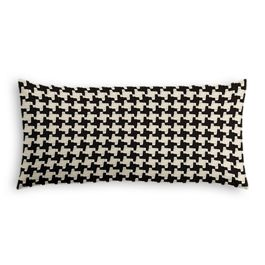 Black & White Houndstooth Lumbar Pillow