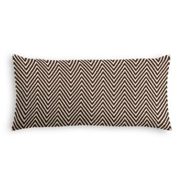 Knitted Brown Chevron Lumbar Pillow