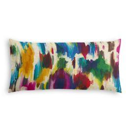 Multicolor Watercolor Lumbar Pillow