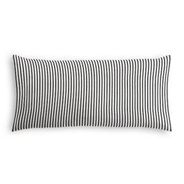 Black Ticking Stripe Lumbar Pillow