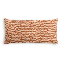 Tribal Orange Diamond Lumbar Pillow