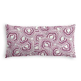 Seafoam & Purple Scallop Lumbar Pillow