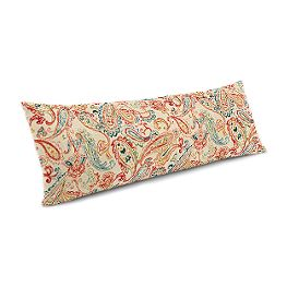 Multicolor Red Paisley Large Lumbar Pillow