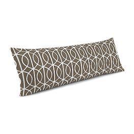Modern Taupe Trellis Large Lumbar Pillow