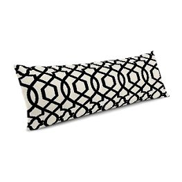 Black & White Trellis Large Lumbar Pillow