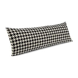 Black & White Houndstooth Large Lumbar Pillow