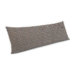 Knitted Brown Chevron Large Lumbar Pillow