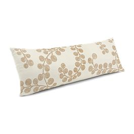 Gold Metallic Swirl Large Lumbar Pillow
