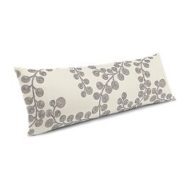 Gray Botanical Swirl Large Lumbar Pillow
