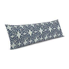 Blue Moroccan Mosaic Large Lumbar Pillow