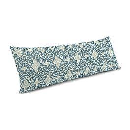 Aqua Moroccan Mosaic Large Lumbar Pillow