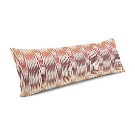 Orange & Pink Flame Stitch Large Lumbar Pillow