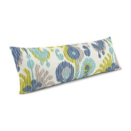 Aqua, Blue & Green Ikat Large Lumbar Pillow