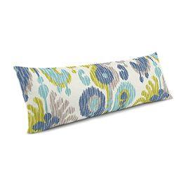 Aqua, Blue & Green Ikat Large Lumbar Pillow