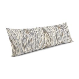 Tan & Gray Faux Bois Large Lumbar Pillow