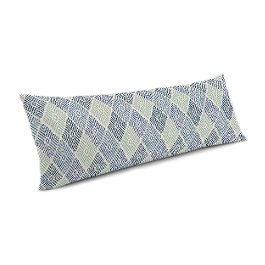 Blue Diamond Block Print Large Lumbar Pillow