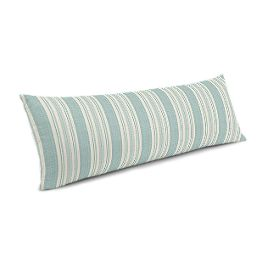 Handwoven Aqua Stripe Large Lumbar Pillow