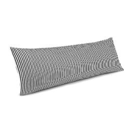 Black Ticking Stripe Large Lumbar Pillow