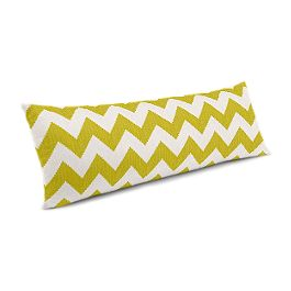 Lime Green Chevron Large Lumbar Pillow