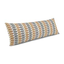 Mod Gray & Orange Geometric Large Lumbar Pillow