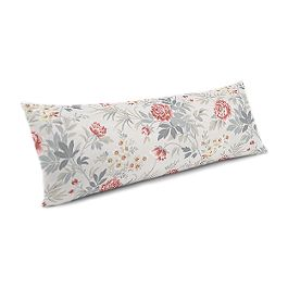 Pink & Gray Lotus Flower Large Lumbar Pillow