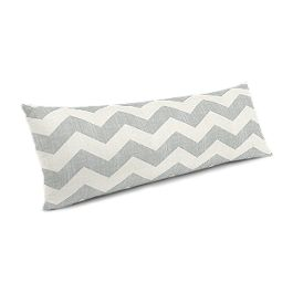 Light Gray Chevron Large Lumbar Pillow