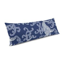 Royal Blue Koi Fish Large Lumbar Pillow
