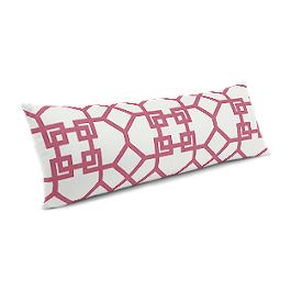 Asian Pink Trellis Large Lumbar Pillow