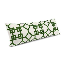 Asian Green Trellis Large Lumbar Pillow