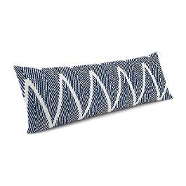 Tribal Navy Blue Chevron Large Lumbar Pillow