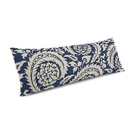 Natural & Blue Botanical  Large Lumbar Pillow
