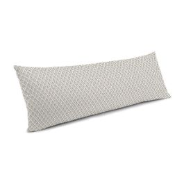 White Mini Diamond Large Lumbar Pillow