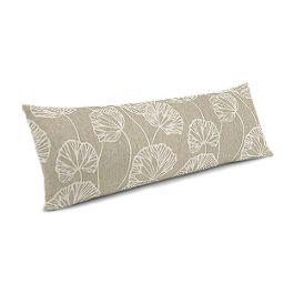 Beige Fan Leaf Large Lumbar Pillow