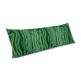 Marbled Green Malachite Large Lumbar Pillow
