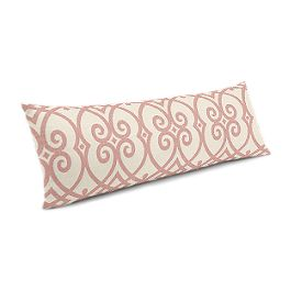 Scrolled Pink Trellis Large Lumbar Pillow