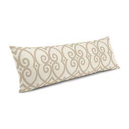 Tan Scroll Trellis Large Lumbar Pillow