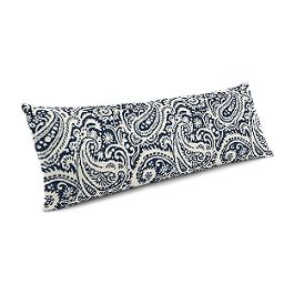Navy Blue Paisley Large Lumbar Pillow