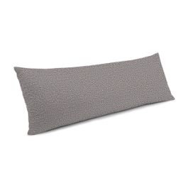 Heathered Gray Woven Blend Large Lumbar Pillow