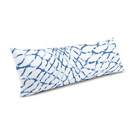 Blue & White Net Large Lumbar Pillow
