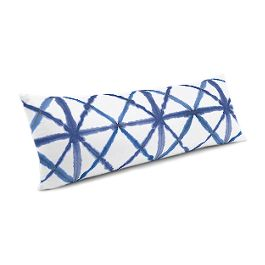 Blue Watercolor Diamond Large Lumbar Pillow